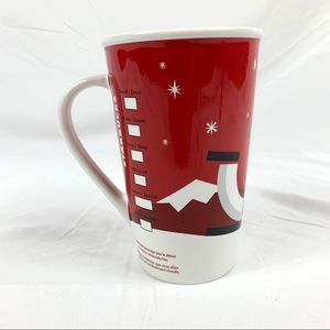 Starbucks Coffe Mug Cup Red White style Puppy